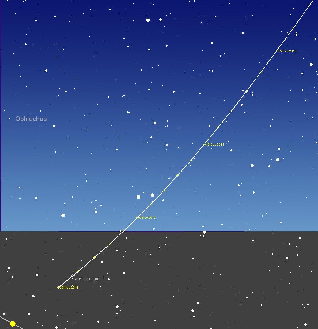 Comet Sky 2013 Comet C/2013 r1 Lovejoy