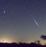 A Geminid photographed by Robin Scagell