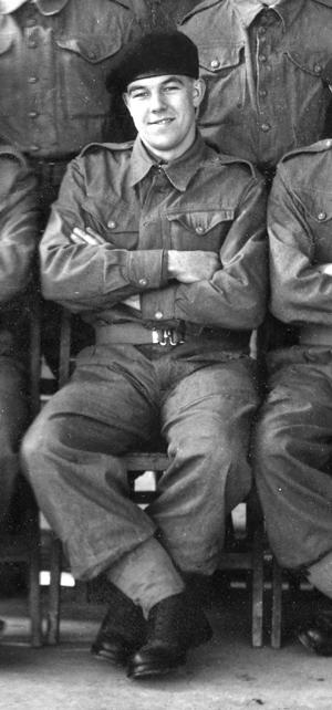 Jim Hysom in army