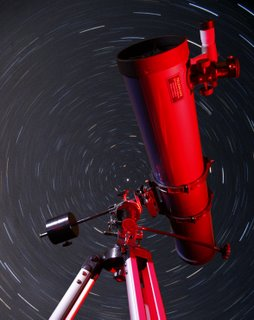 Telescope and star trails