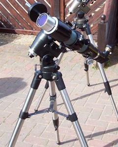 A Solarscope for viewing the Sun in Hydrogen-alpha light, taken by John Chapman-Smith