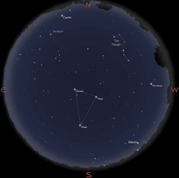 Sky for August 16
