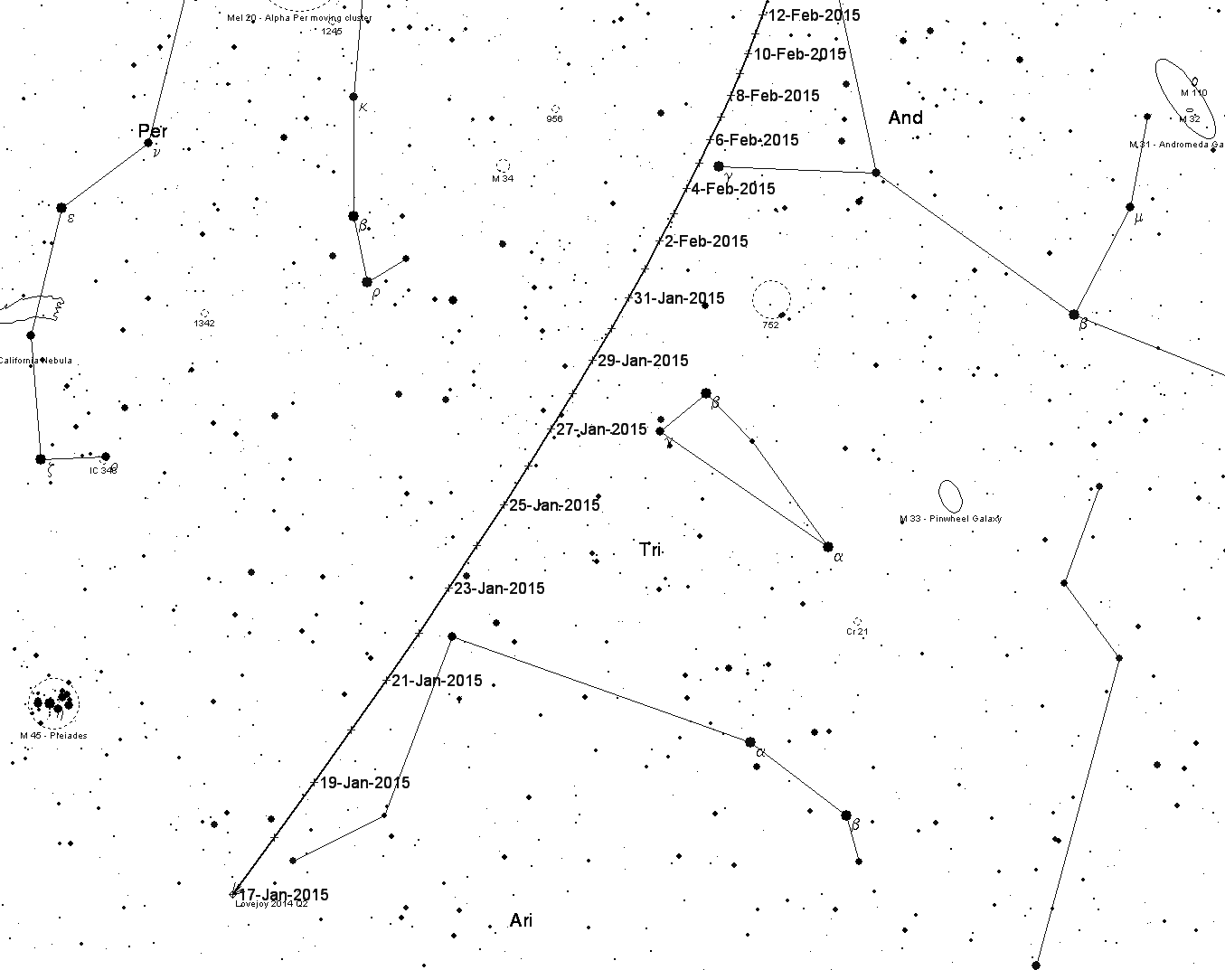 Comet Lovejoy starts to fade - Society for Popular Astronomy