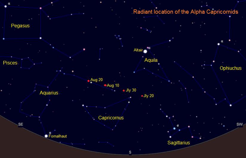 Alpha Capricornid radiant