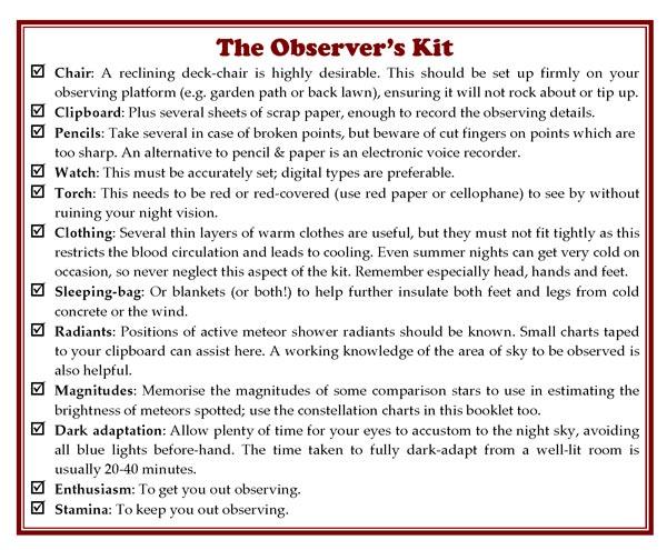 observing kit