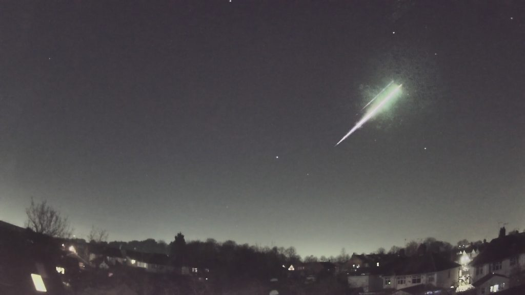 From a video by Ben Stanley, processed by Markus Kempf, the AllSky7 network