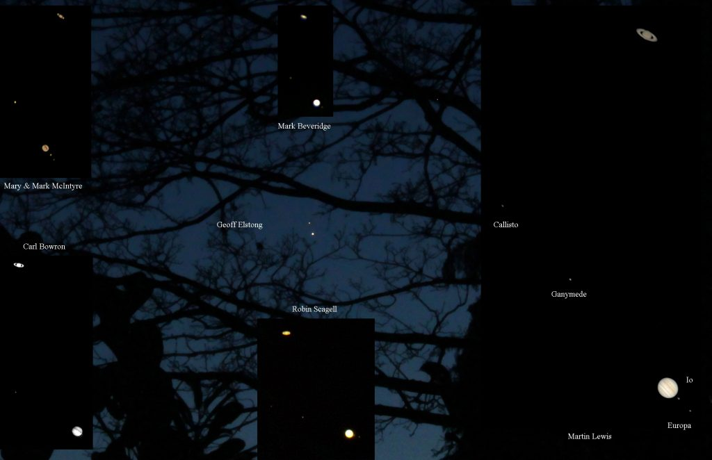 Jupiter and Saturn 2020 grand conjunction December 20 annotated