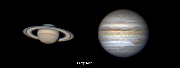 Saturn and Jupiter May annotated 2021