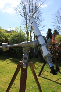 telescope with a full aperture solar filter