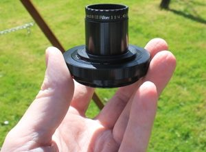 T-mount in hand