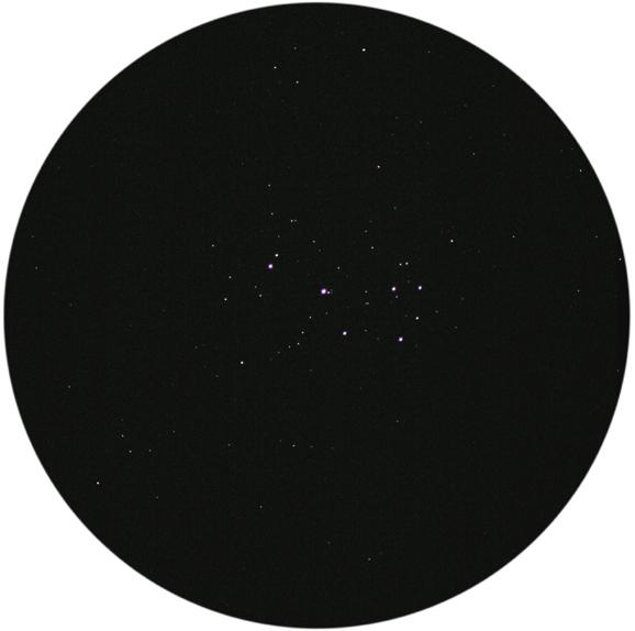 Pleiades as seen through binoculars
