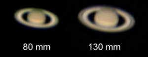 Saturn showing Cassini Division