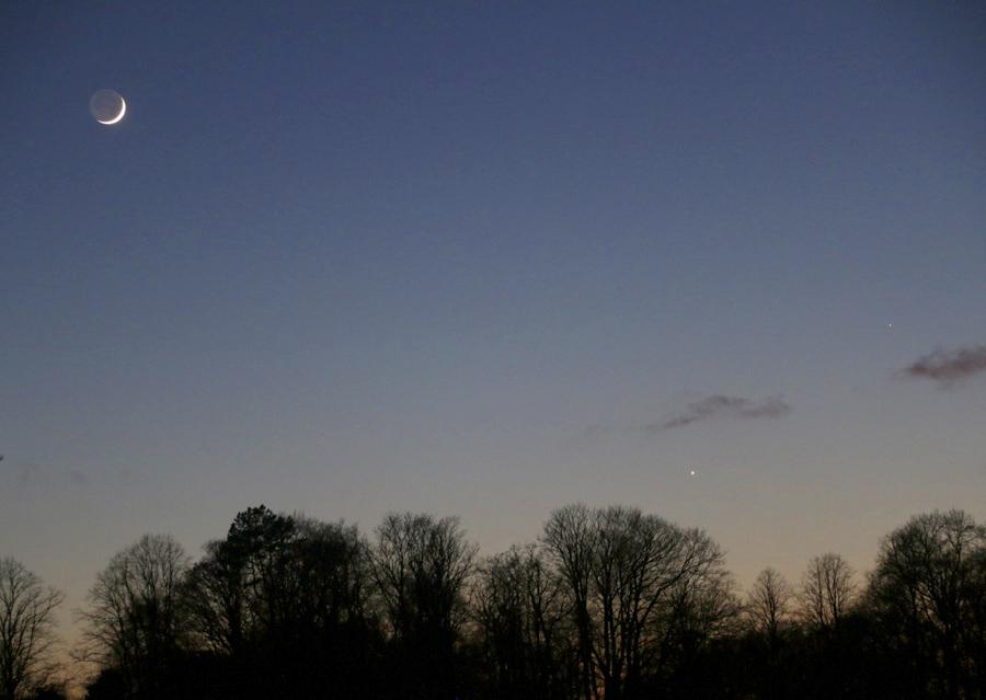 Moon, Venus. Mercury