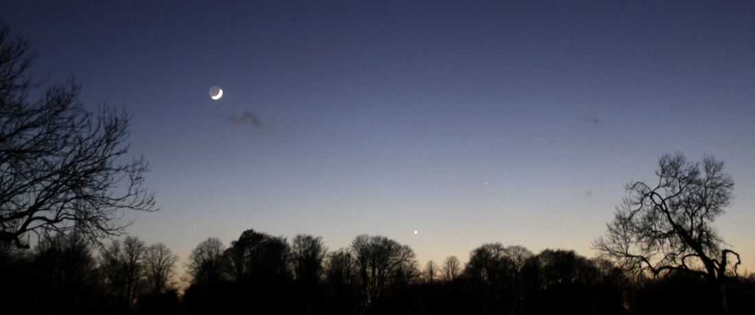 See Venus in the evening sky