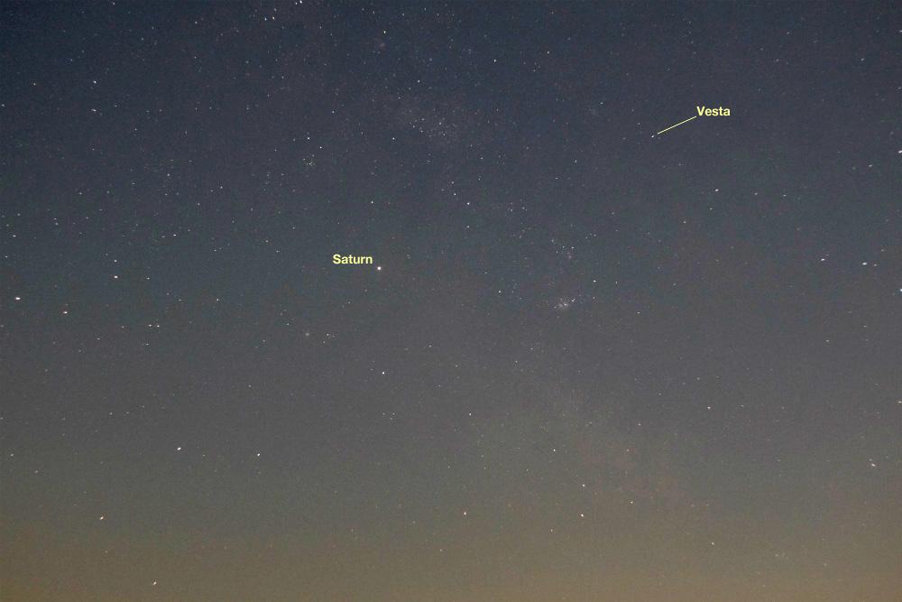 Saturn and Vesta