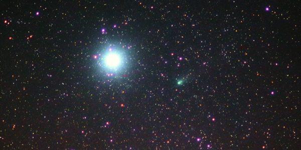 A comet for binoculars
