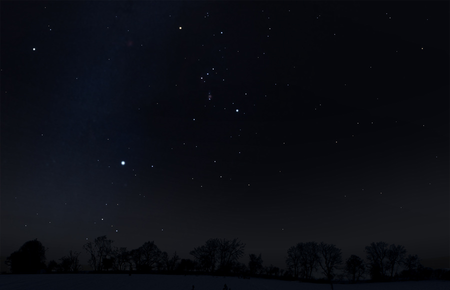 Orion in south