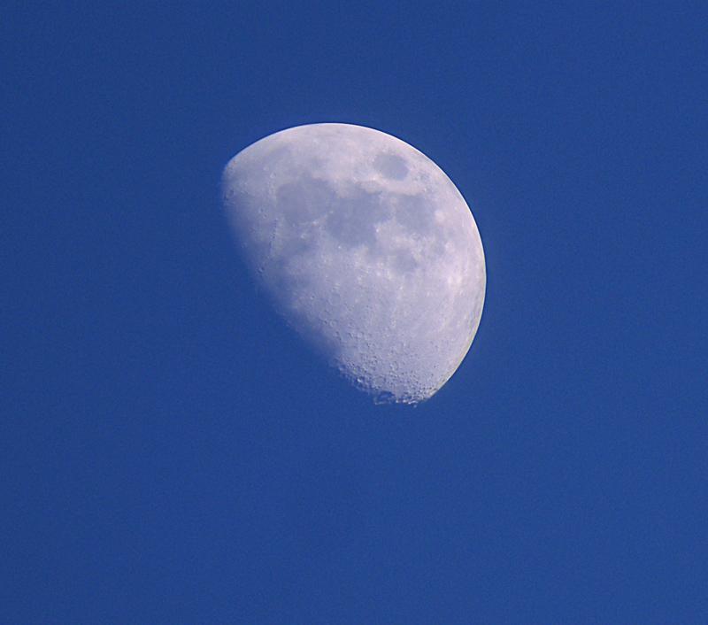 Moon through binoculars
