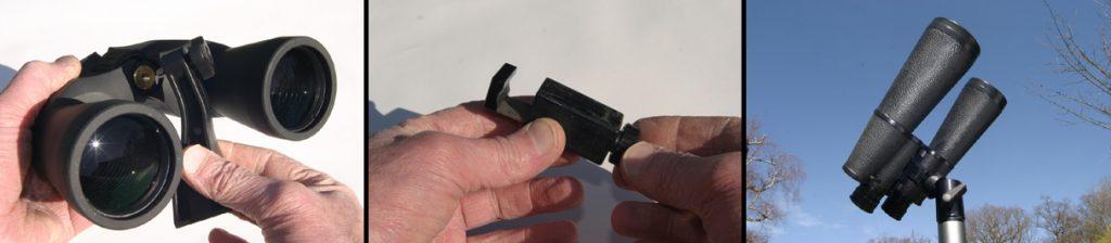 Binocular clamps