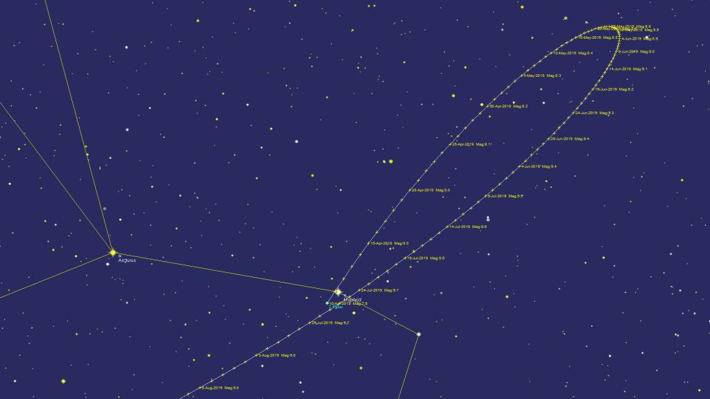 Track of Pallas 2019