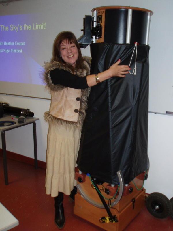 Heather with telescope