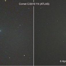 Comet ATLAS breaking up