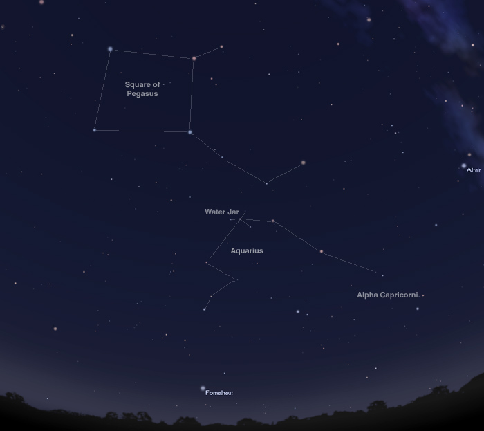 Night sky for Oct 19